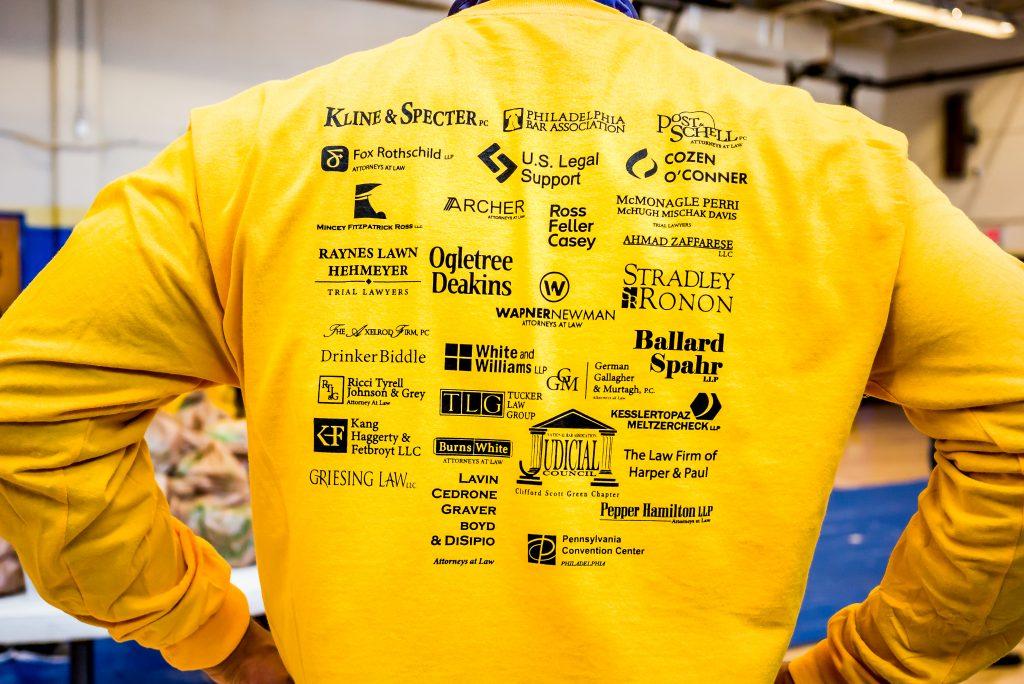 T-Shirt listing event sponsors