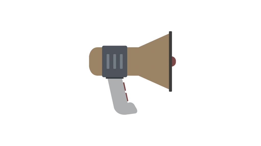 Illustration of megaphone